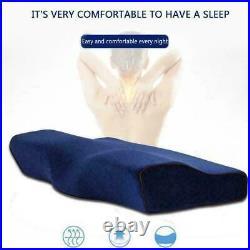 Memory Foam Pillow Neck Massage Ergonomic Curve Cervical Bed Neck Pillow Y8X2