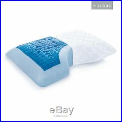 Memory Foam Pillow Side Sleeper with Cooling Gel for Neck and Shoulder King Size