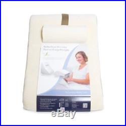 Memory Foam Pillow Wedge System Comfort Sleep Adjustable Back Support Lumbar