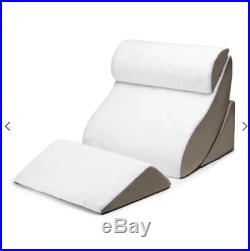 Memory Foam Pillows Wedge Pillow Set 4 Piece Support Bed Back Knee Rest Sets