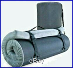 Memory Foam Portable Mattress Sleeping Pad Twin Size withKnee Pillow 75x38x3in