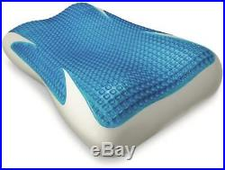Memory Foam Standard Pillow with Ice Fiber Gel Icy-Cooling Touch Bed Pillows NEW