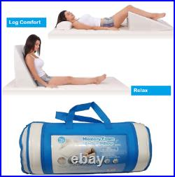 Memory Foam Wedge Bed Pillow pain relief High Quality with Removable Cover