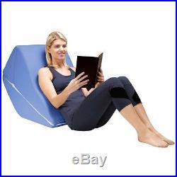 Memory Foam Wedge Cushion Back Pain Pillow Contoured Body Ache Relief Comfort