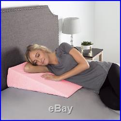Memory Foam Wedge Pillow Bamboo Fiber Cover Antibacterial Mildew-proof Jumbo