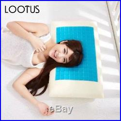 Memory Foam White Bed Pillow Cooling Gel Washable Orthopedic Cervical Vertebra