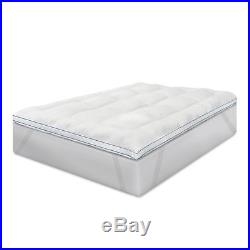 Memory Foam and Fiber Bed Topper with Anchorbands Polyester Fiberfill Pillows