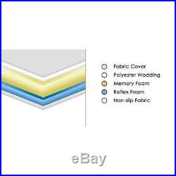 Memory Reflex Foam Mattress Quilted Cover Pillow Rolled Small Double Medium Soft