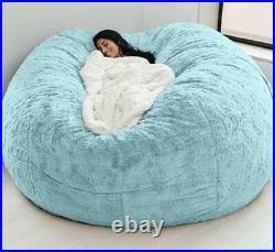 Microsuede 7ft Foam Giant Bean Bag Memory Living Room Chair Lazy Sofa Cover Huge