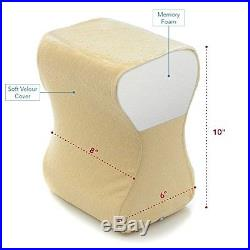 Milliard Contour Memory Foam Leg & Knee Pillow With Ultra Soft Velour Removable C