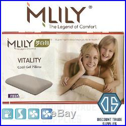 Mlily Luxury Memory Foam Cool Comfort Gel Vitality Pillow