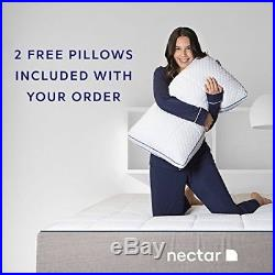 NECTAR Full Mattress + 2 Free Pillows Gel Memory Foam CertiPUR-US Certified