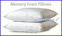 NEW 10 DOUBLE 4ft6 BED SIZE MEMORY FOAM MATTRESS +2 FREE PILLOWS + FREE COVER
