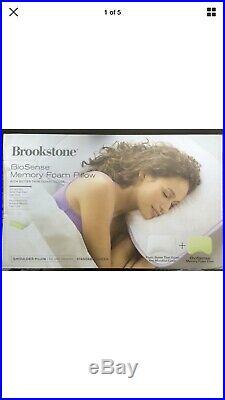 NEW Brookstone BioSense Memory Foam 2-in-1 Shoulder Pillow For Side Sleepersp