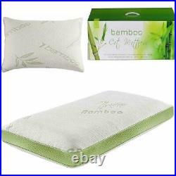 NEW LUXURY BAMBOO MEMORY FOAM COT BED MATTRESS 70x140cm MATCHING PILLOW TODDLER
