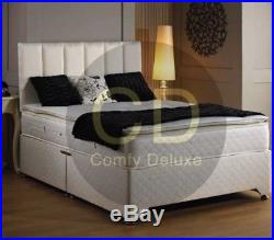 NEW PILLOW TOP 1000 POCKET DIVAN BED SET WITH MATTRESS 3FT 4FT6 Double 5FT KING