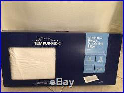 NEW Tempur-Pedic TEMPUR-Cloud Breeze Dual Cooling Pillow King White Gel Washable
