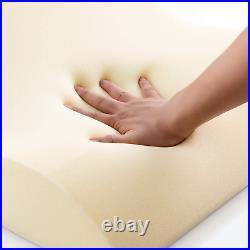 NOFFA Reading Pillow Memory Foam Wedge Pillow Backrest Pillow for Bed/Sofa