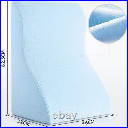 NOFFA Reading Pillow Memory Foam Wedge Pillow Perfect for Back Support While