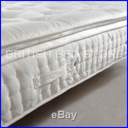 Natural Filling Pillow Top Pocket Sprung Mattress Memory Foam 3FT 4FT6 5FT 6FT