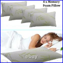 Natural Latex Pillow Soft Bamboo Memory Foam Pillows Extra Filled Neck Support
