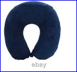 Neck Pillow / Memory Foam Cushion Support Car Plane Travel Soft Velour U Shaped
