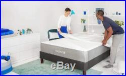 Nectar King Memory Foam Mattress Bundle Pillows Duvet Bedding Set Protector