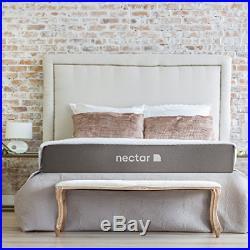 Nectar Queen Mattress + 2 Free Pillows Gel Memory Foam CertiPUR- US 180