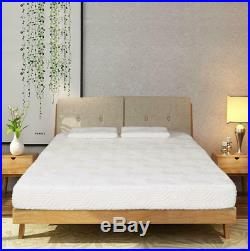 New 8 inch Queen Size Cool Firm Memory Foam Mattress Bed with 2 Pillows White