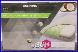New Lux Living Natural Coconut Bliss Pillow Memory Foam Mattress Firm