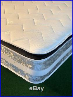 New MEMORY FOAM CRUSHED VELVET PILLOW TOP MATTRESS ALL SIZES AVAILABLE