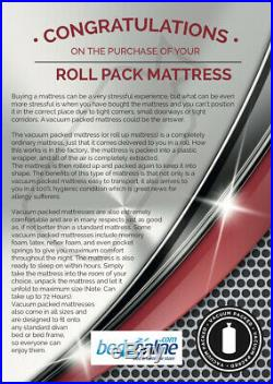 New Memory Foam Mattress Circle Design With Removable Zip Cover & 2 Free Pillows