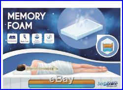 New Memory Foam & Reflex 3 Zone Straight Line Miqro Quilt Cover + 2 Free Pillows