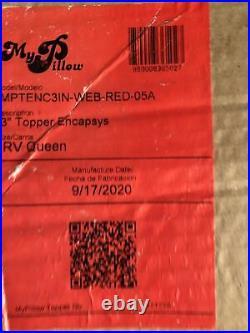 New MyPillow 3 Mattress Bed Topper PLUS 2 PILLOWS (RV Queen) Encapsys RVQueen