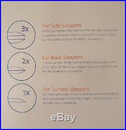 New Original Emma Memory Foam Pillows Cheapest Online Free P&p Uk Mainland Only