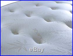 New Orthopaedic Bamboo Memory Sprung Foam Mattress, 3FT, 4FT 5FT + FREE PILLOW