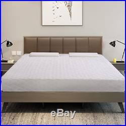 New Queen Size 10 Memory Foam Mattress Pad Bed Topper 2 FREE Pillows
