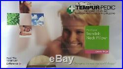 New Sealed Tempur-Pedic Swedish Neck Pillow Memory Foam 24x12x4.5^ Queen Size