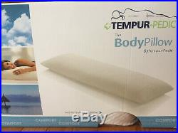 New Tempur-Pedic Body Pillow, 48 Long Supports Side Sleepers and Expectant Moms