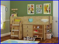 Ollie Cabin Bed Oak Effect Midsleeper Bed Storage Included 2 FREE PILLOWS