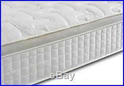 Orthopaedic 1000 Pocket Sprung Gold Pillow Top Border Memory Foam Mattress