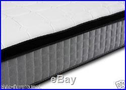 Orthopaedic 1000 Pocket Sprung Grey Pillow Top Border Memory Foam Mattress