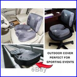Orthopedic Coccyx Seat Cushion Memory Foam Cooling Gel Office Car Chair Pillow