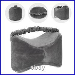 Orthopedic Memory Foam Pillow Leg Knee Therapy Firm Support Velvet Cover Grey