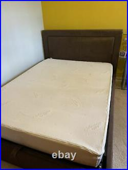 Ottoman storage gas lift up double size bed with memory foam mattress&2pillows