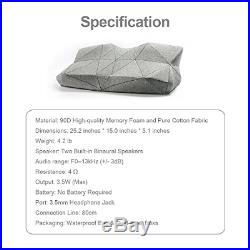 PILO Classic Ergonomic Smart Music Pillow, Cervical Contour Neck Pillow for of