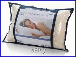 Pair 2x Genuine Tempur-pedic Premium Memory Foam Travel Car Holiday Pillows +bag