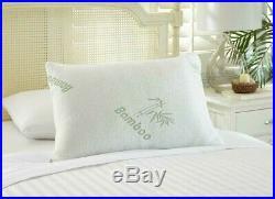 Pair of Anti-Bacterial Bamboo Anti-Allergy Orthopaedic Memory Foam Pillows