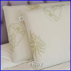 Pair of `Pisolo` Memory Foam Pillows, 100% Made in Italy, Aloe Vera