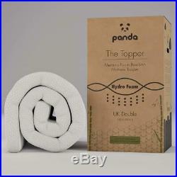 Panda Memory Foam Bamboo Mattress Topper, Double Comfortable